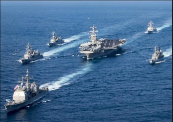 US sends Navy strike group to North Korea